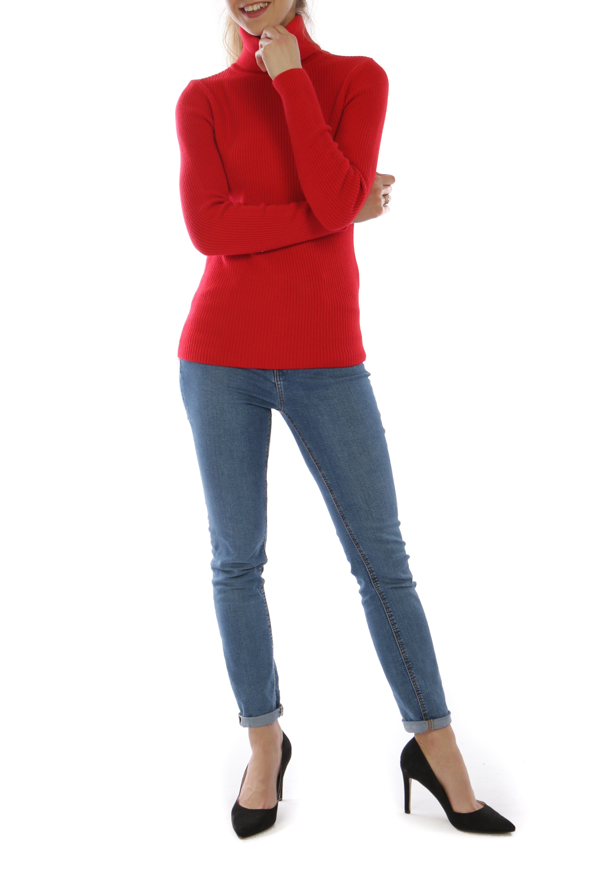 Jumpers Women Red Jus de pom & Co N2301 #c eFashion Paris