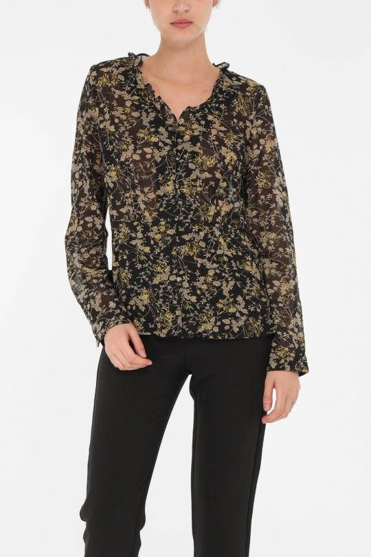 Chemises Femme Noir MOD.STYLE  L002 eFashion Paris