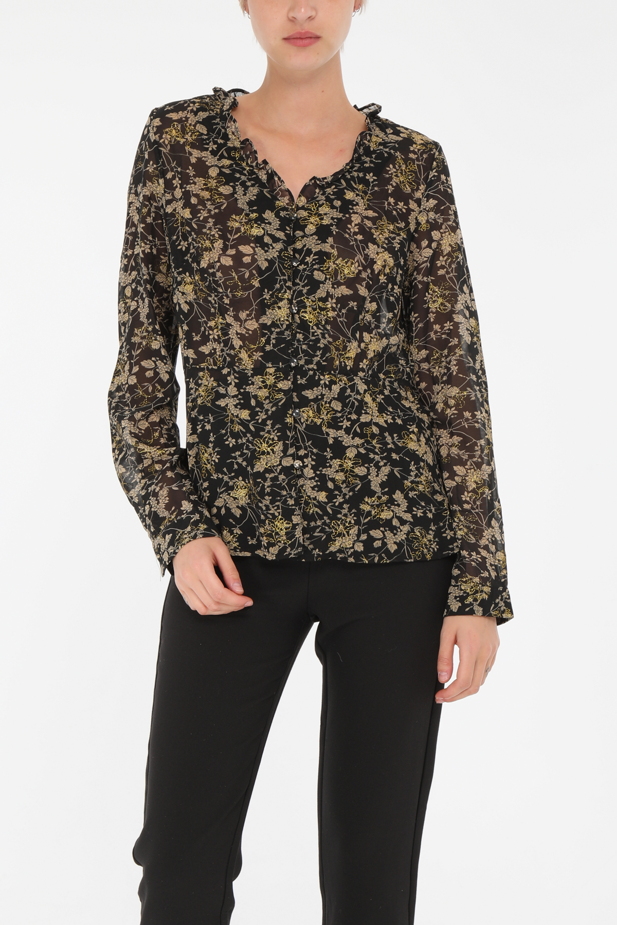 Chemises Femme Noir MOD.STYLE  L002 #c eFashion Paris