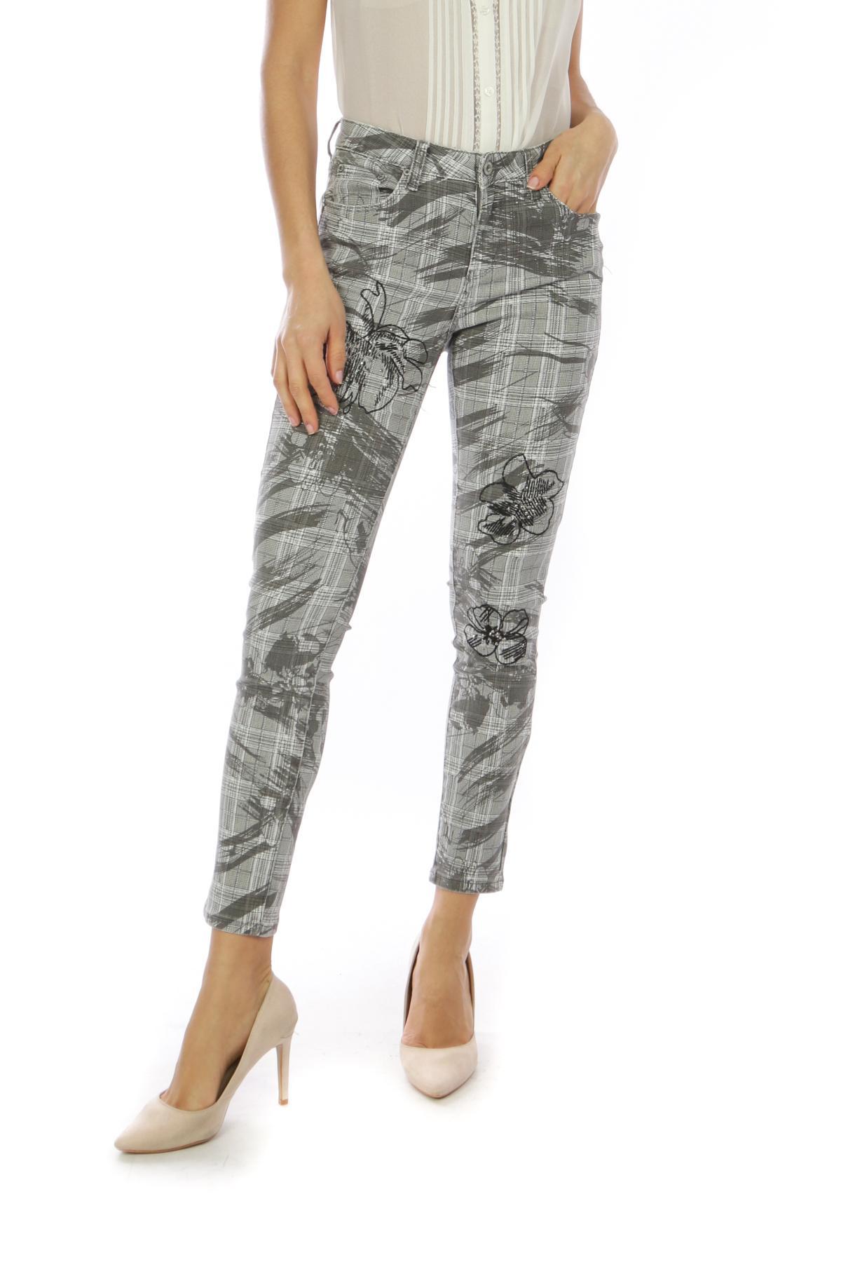 Pantalons Femme C1915-GRIS Toxik3