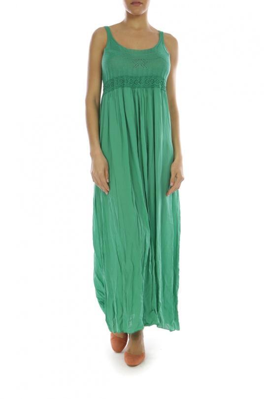 Robes longues Femme Vert GO POMELO X1677 Efashion Paris