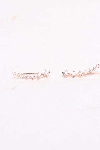 Boucles d'oreilles Accessoires rose dorée Rouge Bonbons JY011 eFashion Paris