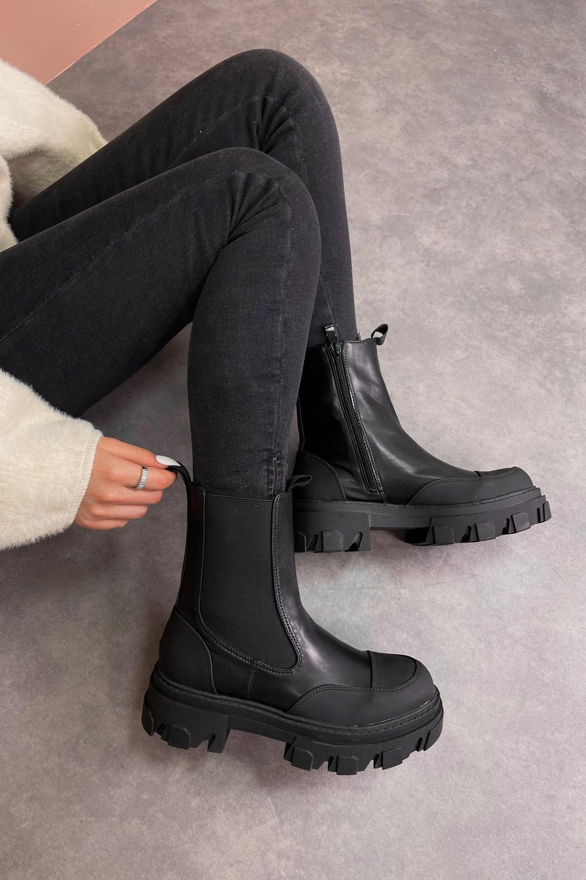 Bottines Chaussures Noir WS Shoes H21-25 #c Efashion Paris