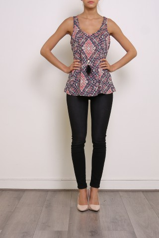 Tops Femme Rose Loona & co DX3703 eFashion Paris