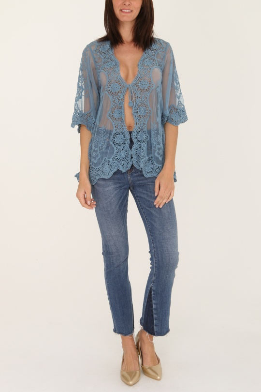 Cárdigans Mujer Jean blue Sun Love 910  c eFashion Paris e5917eb67ae9