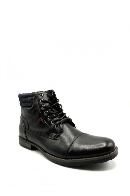 Bottines Chaussures Noir ELONG SHOES EL0601 eFashion Paris