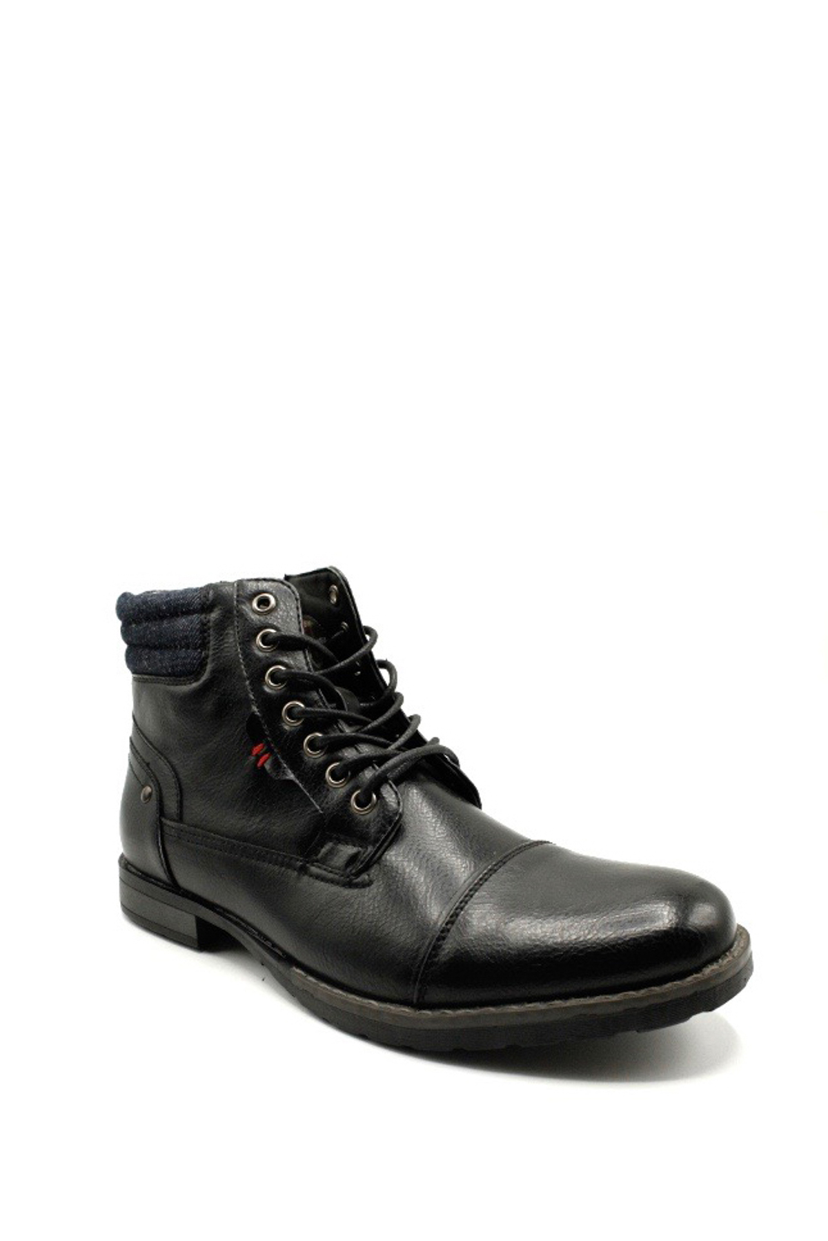 Bottines Chaussures Noir ELONG SHOES EL0601 #c eFashion Paris