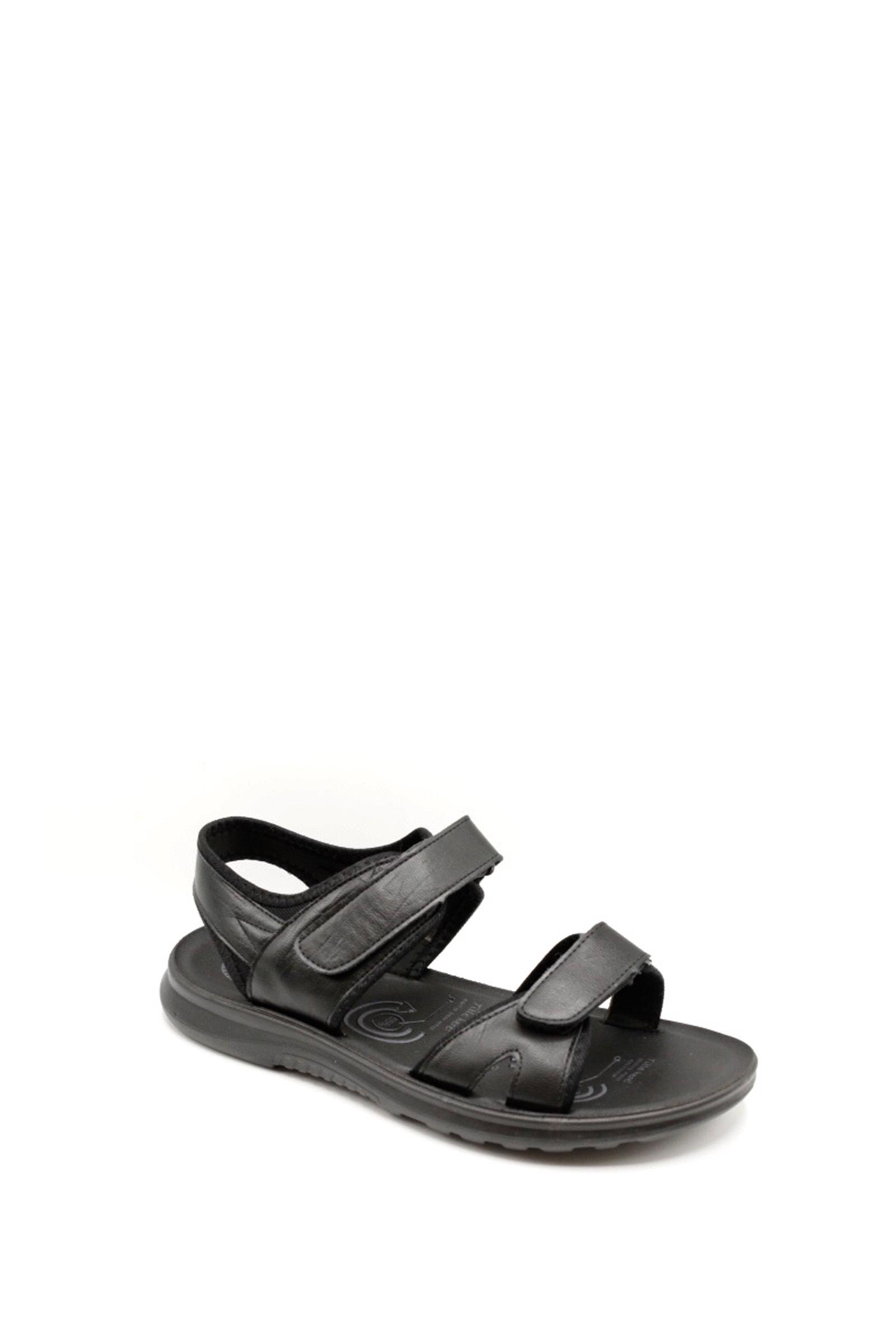 Sandales Chaussures Noir ELONG SHOES A02 #c eFashion Paris