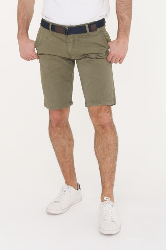 a3e26895ed1 Shorts Homme Kaki Eclyss LPCH03  c eFashion Paris