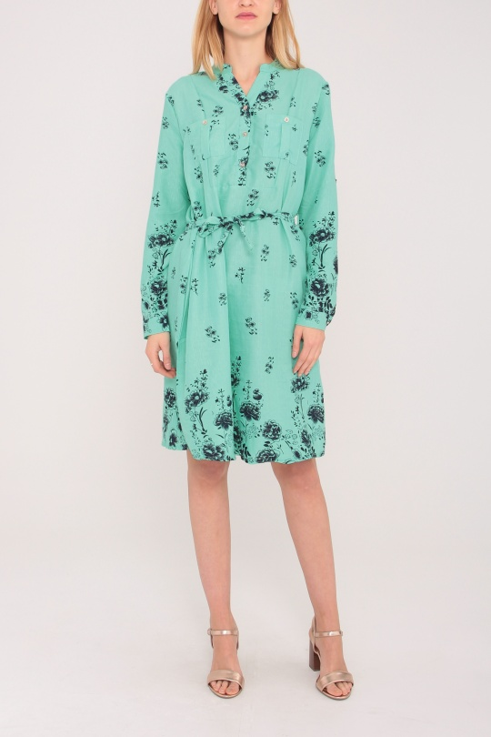 Robes mi-longues Femme Couleurs mélangées Nova Fashion 8933 eFashion Paris