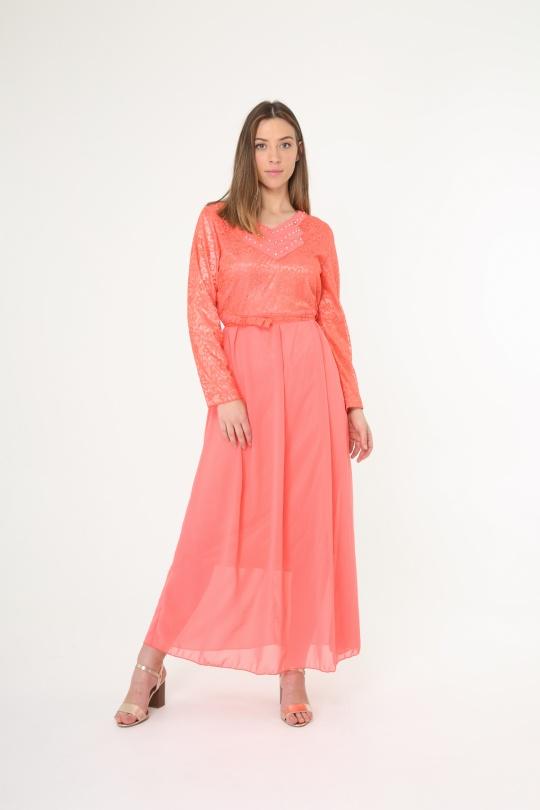 Robes longues Femme Couleurs mélangées Nova Fashion 8962 eFashion Paris