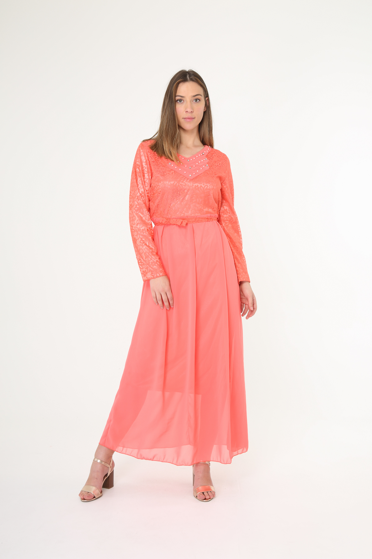 Robes longues Femme Couleurs mélangées Nova Fashion 8962 #c eFashion Paris