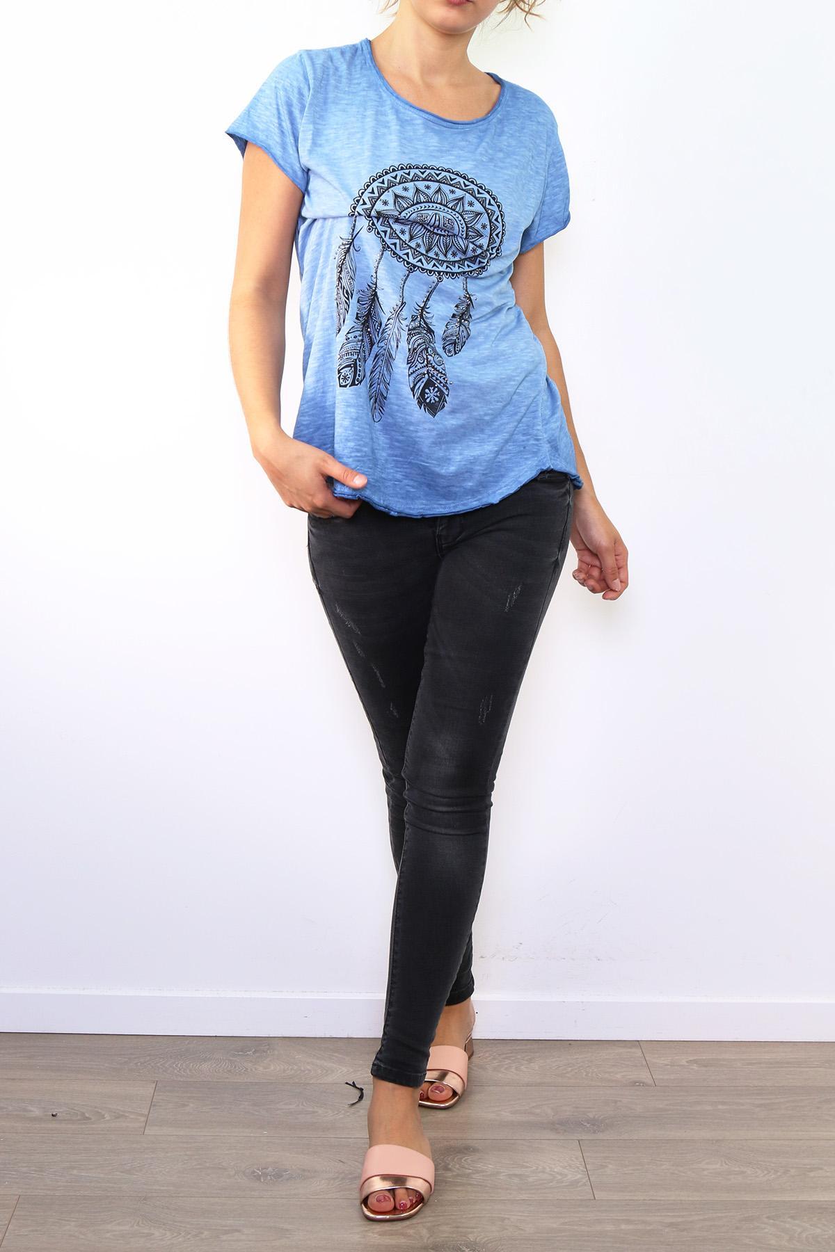 Tops & T-shirts Femme 17017-BLEU FONCÉ ZAFA