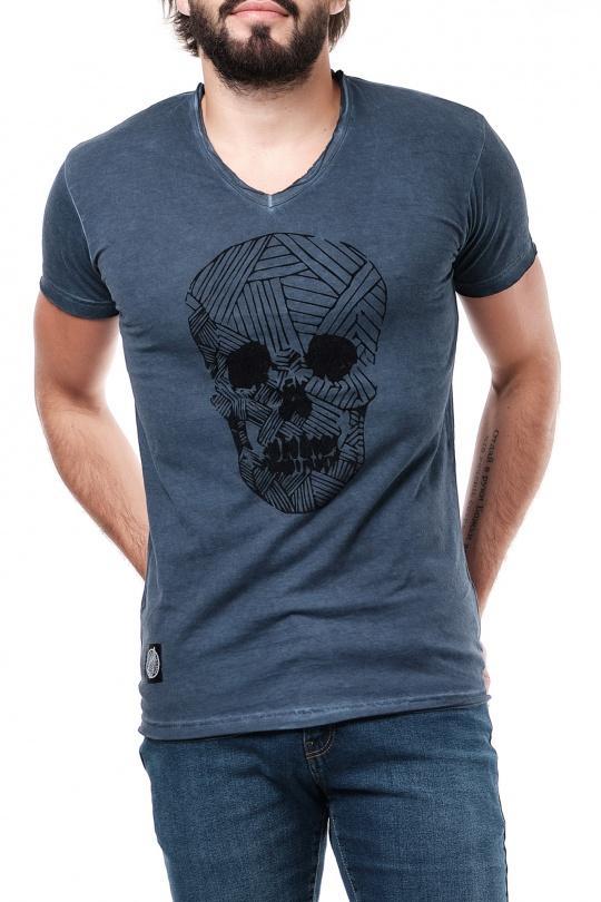 T-shirt Uomo Colori mescolati Hopenlife AKAMARU-BLANC+NAVY eFashion Paris