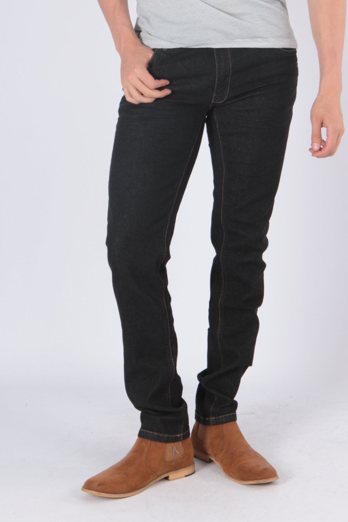 Jeans Homme Noir Hopenlife JYOTI 1 (NOIR) #c eFashion Paris