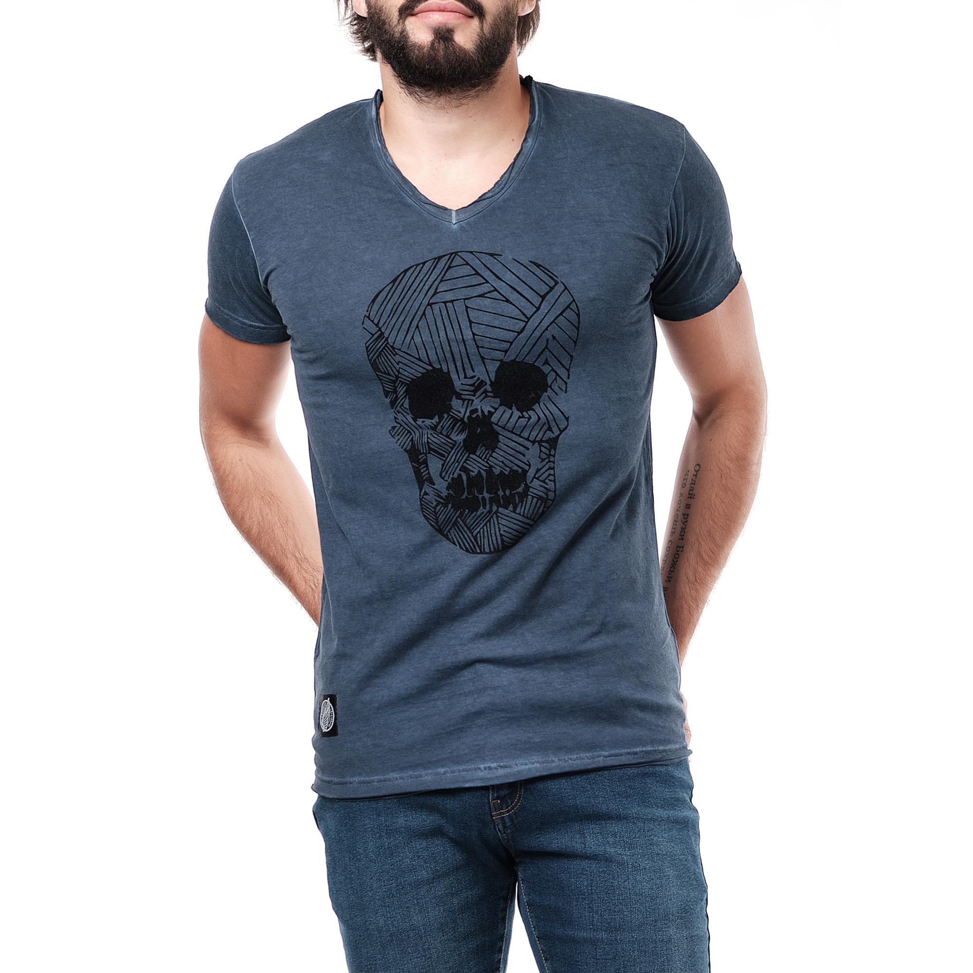 T-shirt Uomo Colori mescolati Hopenlife AKAMARU-BLANC+NAVY #c eFashion Paris
