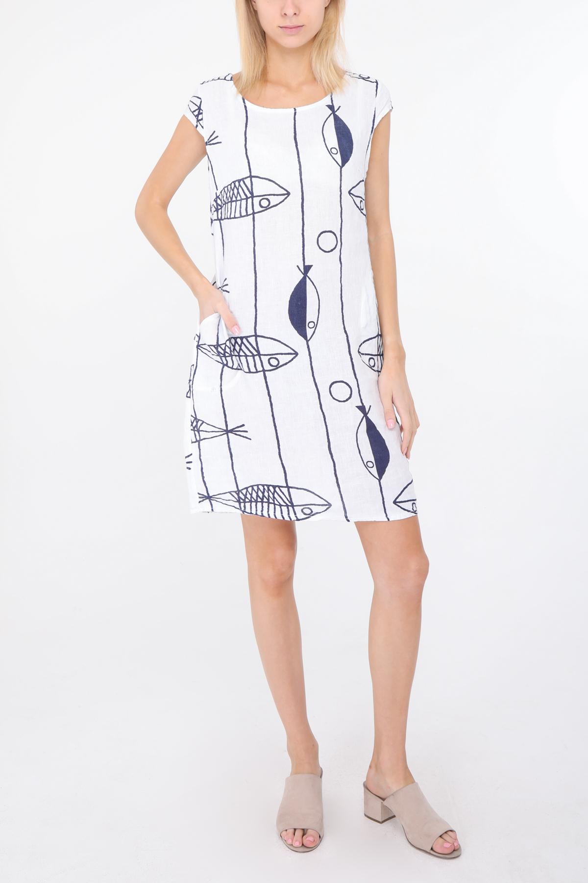 Robes courtes Femme Blanc Happy Look 1991POISSON #c eFashion Paris