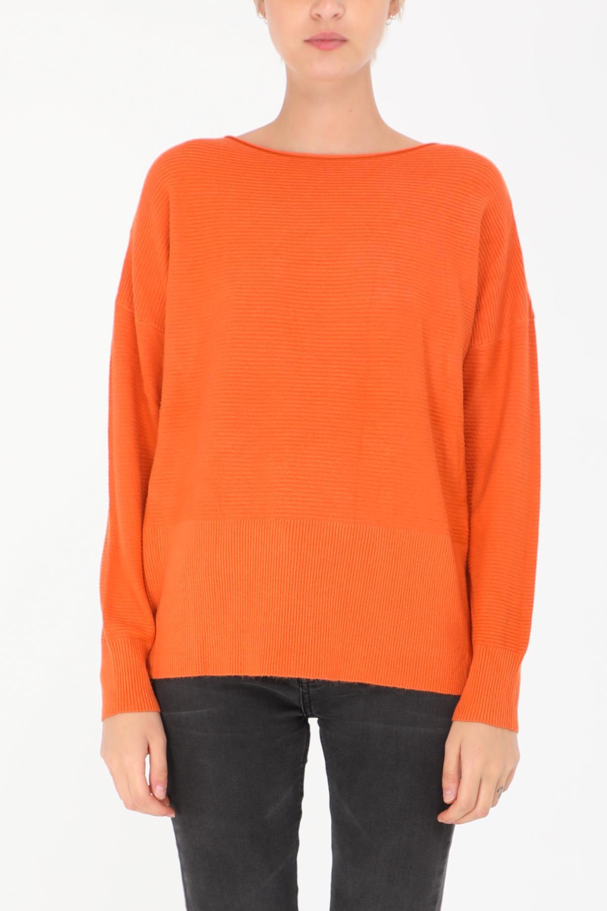 Pulls Femme Orange Happy Look 0077 #c eFashion Paris