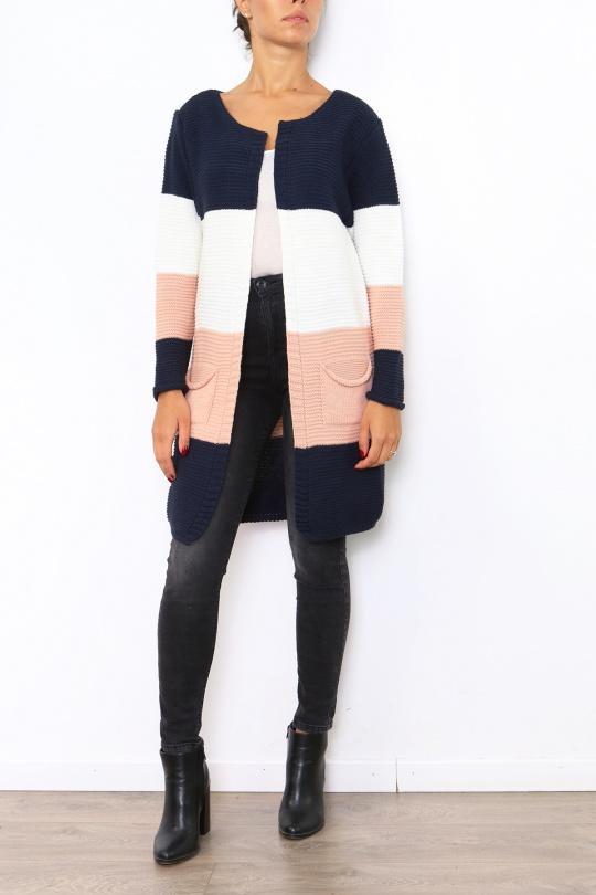 Tops & T-shirts Femme 8717-BLEU MARINE Lucene