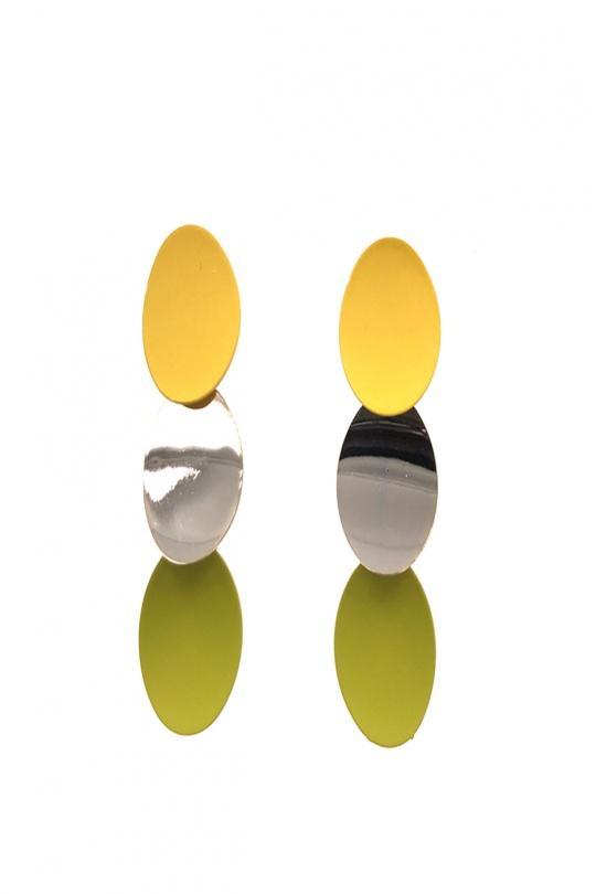 Boucles d'oreilles Accessoires 88BO08-JAUNE FLUO BELLISSIMA