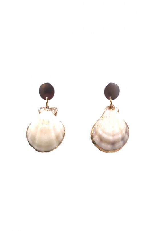 Boucles d'oreilles Accessoires Ecru BELLISSIMA 108BO07 eFashion Paris