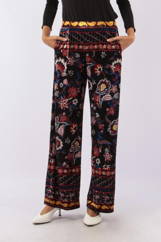 Pantalones Mujer Multicolor 101 Idees R2087  c eFashion Paris d65d45b76519