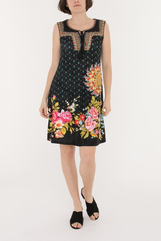 0d71b6fb6c Vestidos cortos Mujer Multicolor 101 Idees A5541  c eFashion Paris