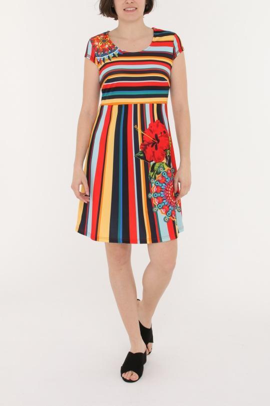 22b8be6c30 Vestidos cortos Mujer Multicolor 101 Idees N6901  c eFashion Paris