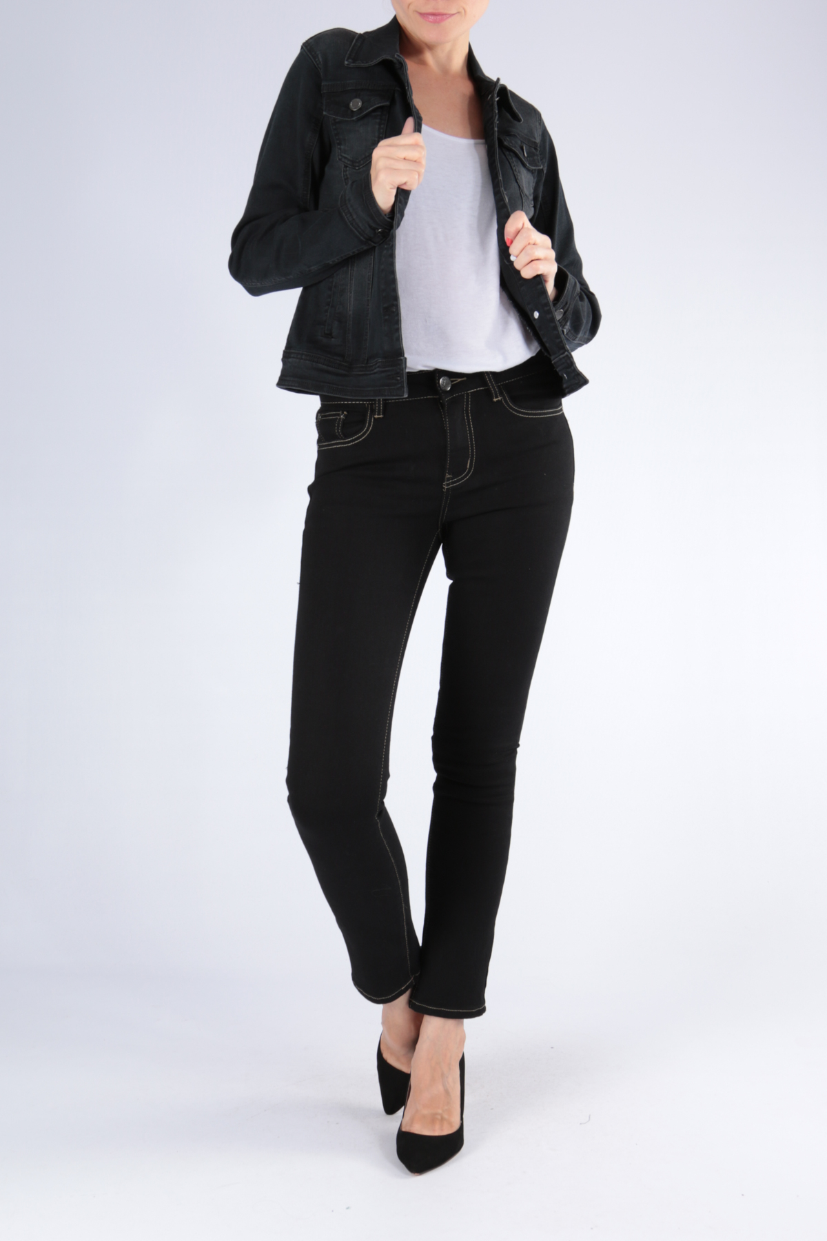 Vestes Femme Gris Simply Chic  H205 #c eFashion Paris