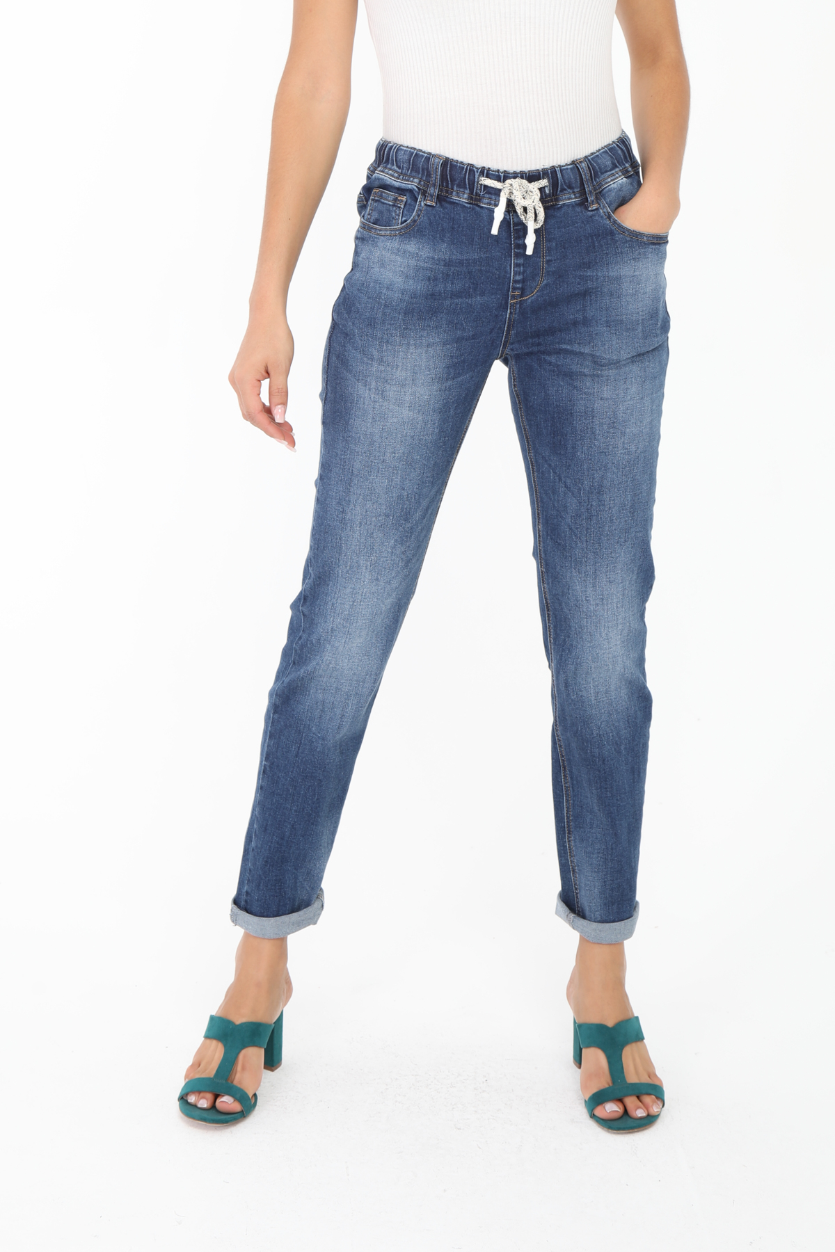 Jeans Femme Bleu Simply Chic  Q1841-2 #c eFashion Paris