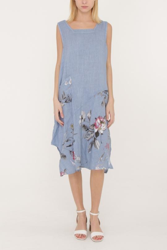 Robes mi-longues Femme Bleu jean HAPPY LOVE 70109 eFashion Paris