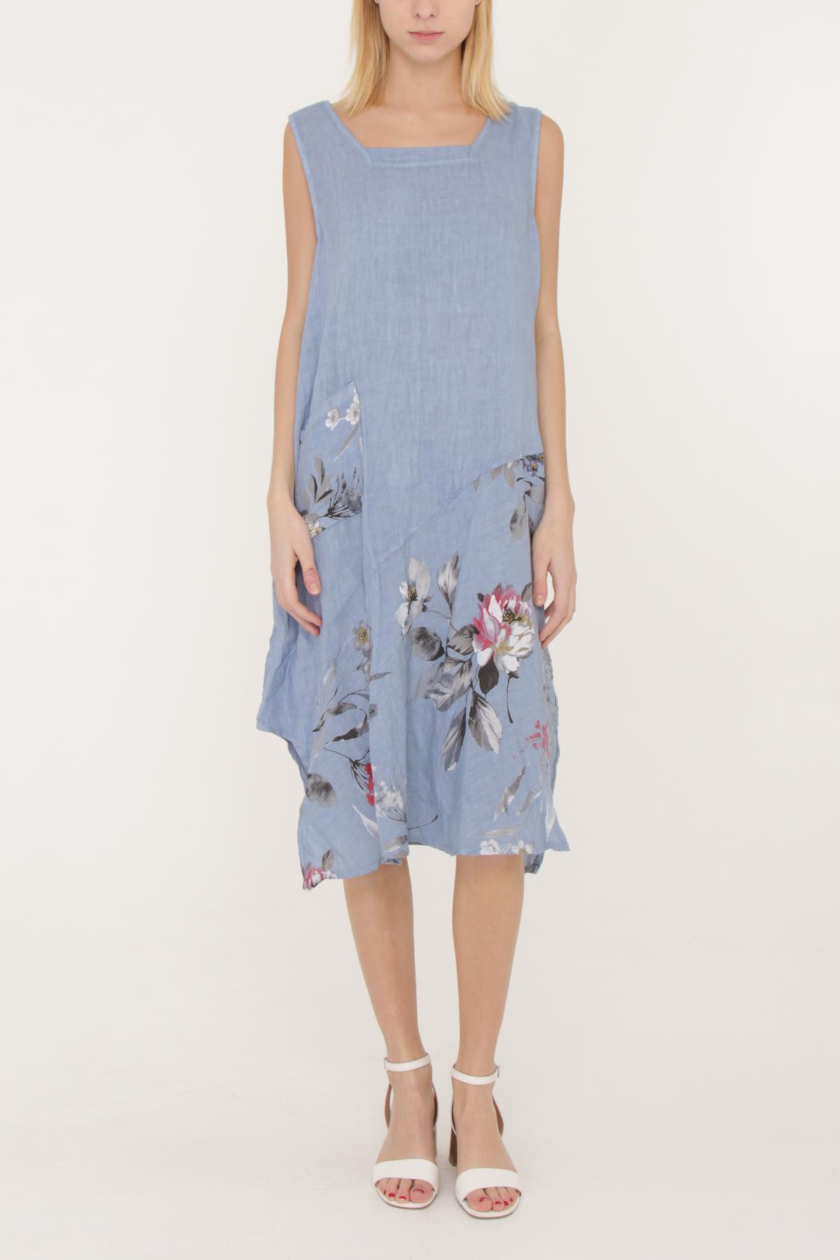 Robes mi-longues Femme Bleu jean HAPPY LOVE 70109 #c eFashion Paris