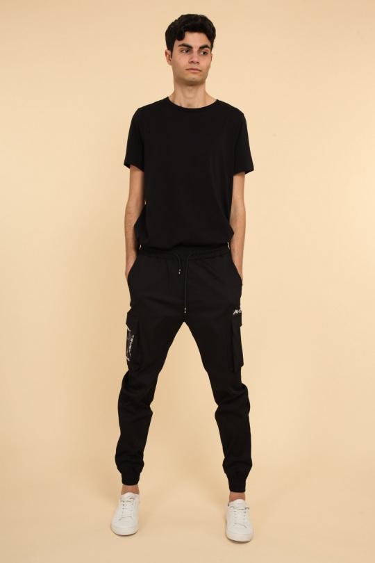 Pantalons Homme Noir AARHON 4-92362 eFashion Paris