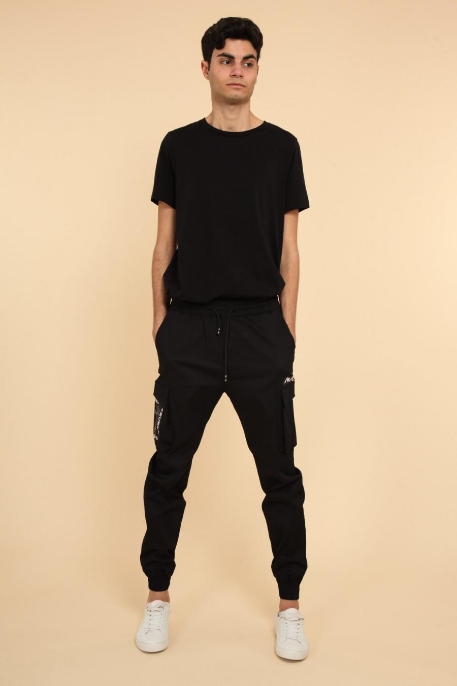 Pantalons Homme Noir AARHON 4-92362 #c eFashion Paris