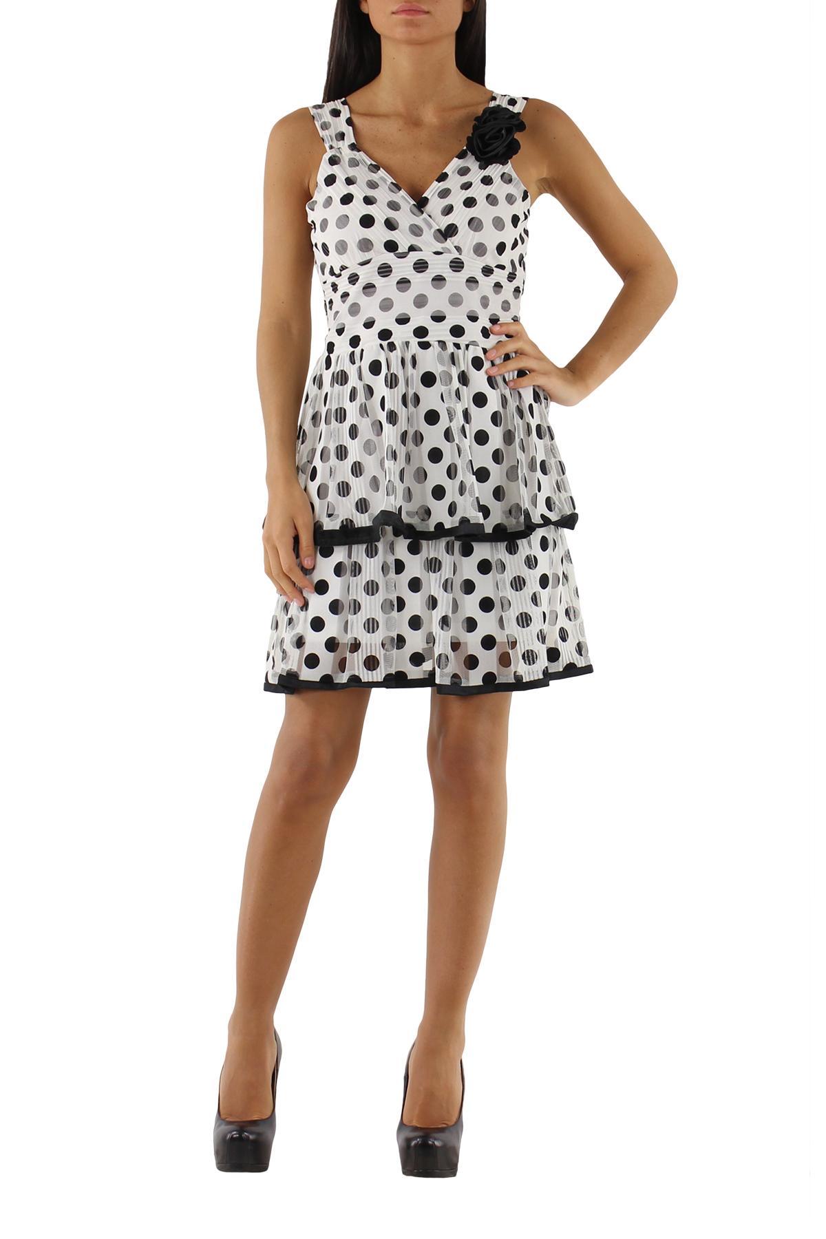 Robes courtes Femme S1006-BLANC Lucy & Co Paris 11