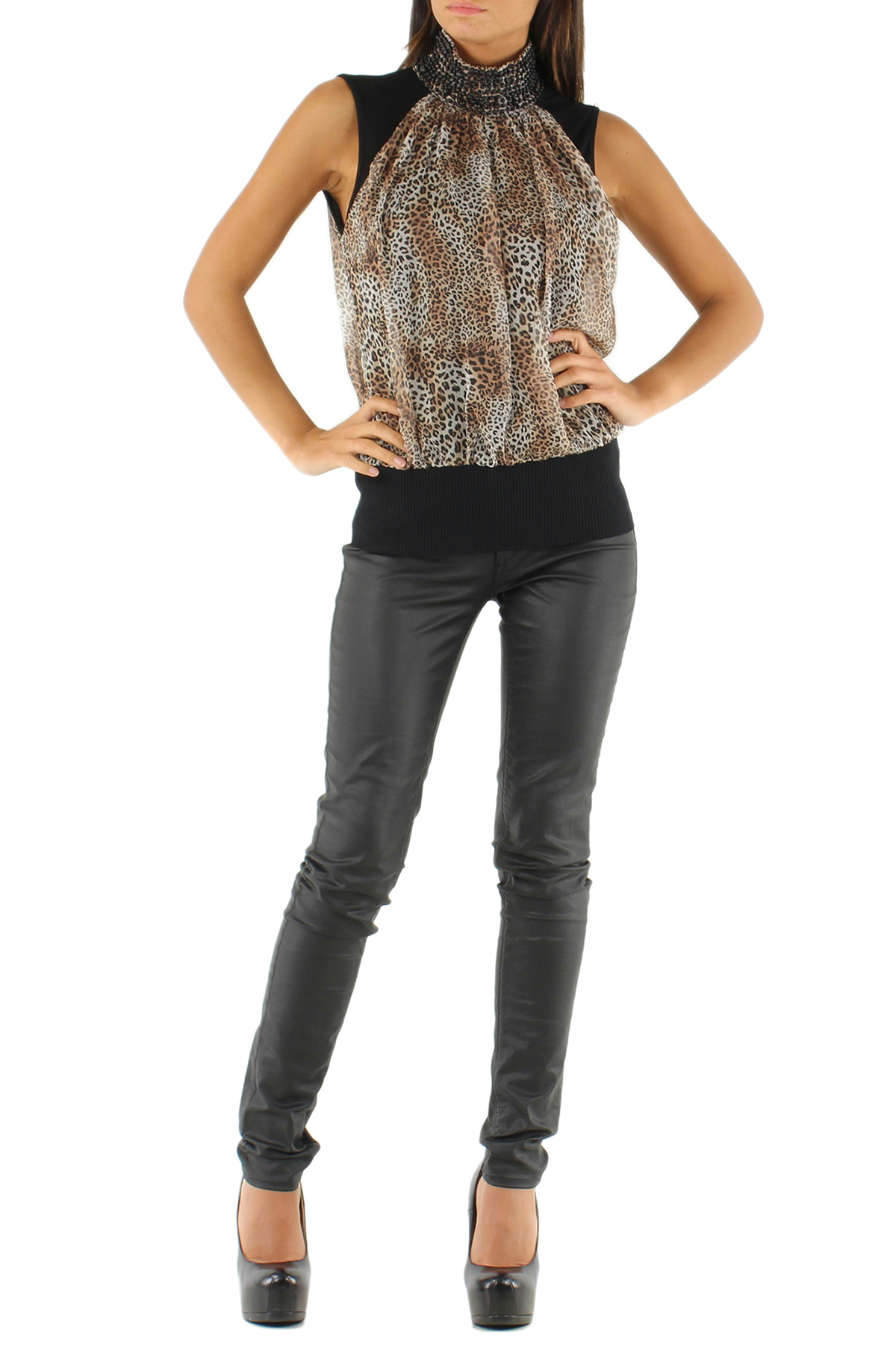 Top Donna Beige Lucy & Co Paris 11 8676 #c eFashion Paris