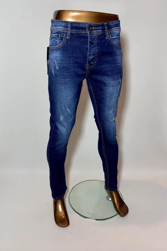 Jeans Homme Bleu jean OMNIMEN K803 eFashion Paris