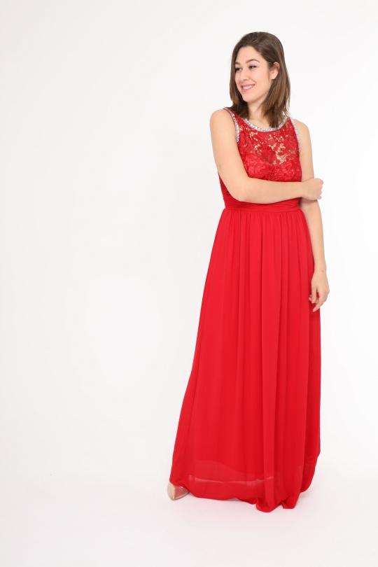 Robes & Combinaisons Femme Rouge Eva et Lola R1196QS eFashion Paris
