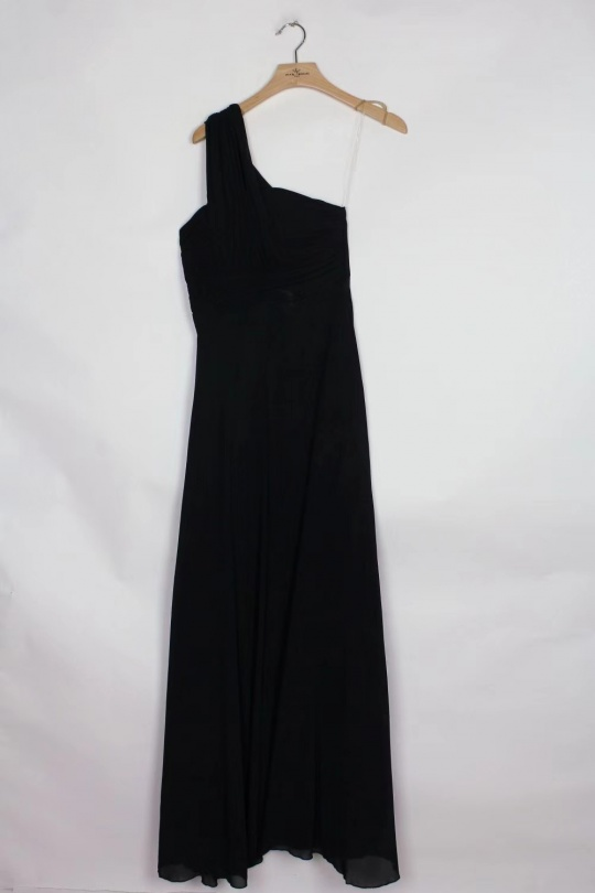 Robes longues Femme Noir Pink Boom 80022 eFashion Paris