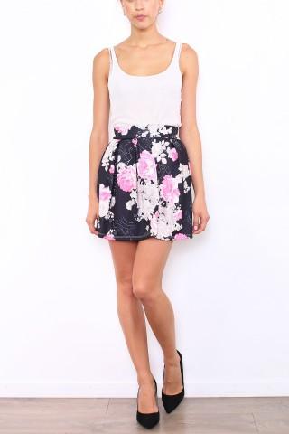 Jupes & Shorts Femme 5049-NOIR/ROSE Macmax