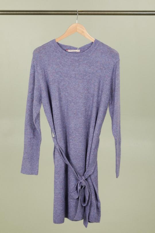 Robes mi-longues Femme Violet AZAKA M3171 Efashion Paris