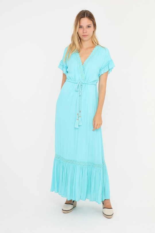 cad26abaa Maxi dresses Women Turquoise AZAKA AT4374 #c eFashion Paris