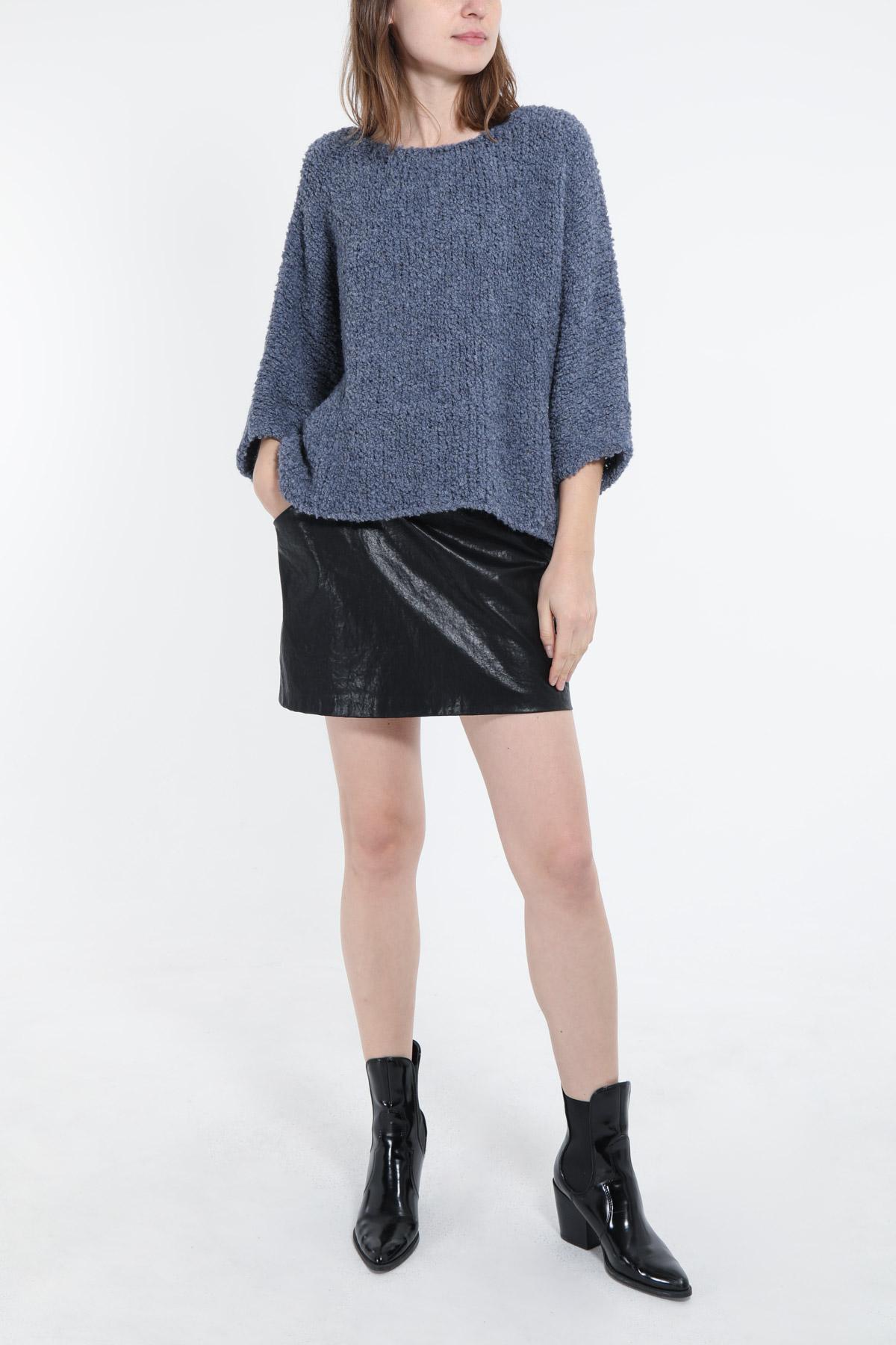 Pulls Femme Bleu jean PINKA 19607 #c eFashion Paris