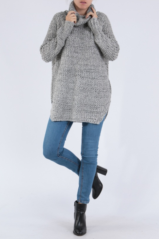 Jumpers Women Grey/white MADSTER by MATCHPOINT SW103 eFashion Paris