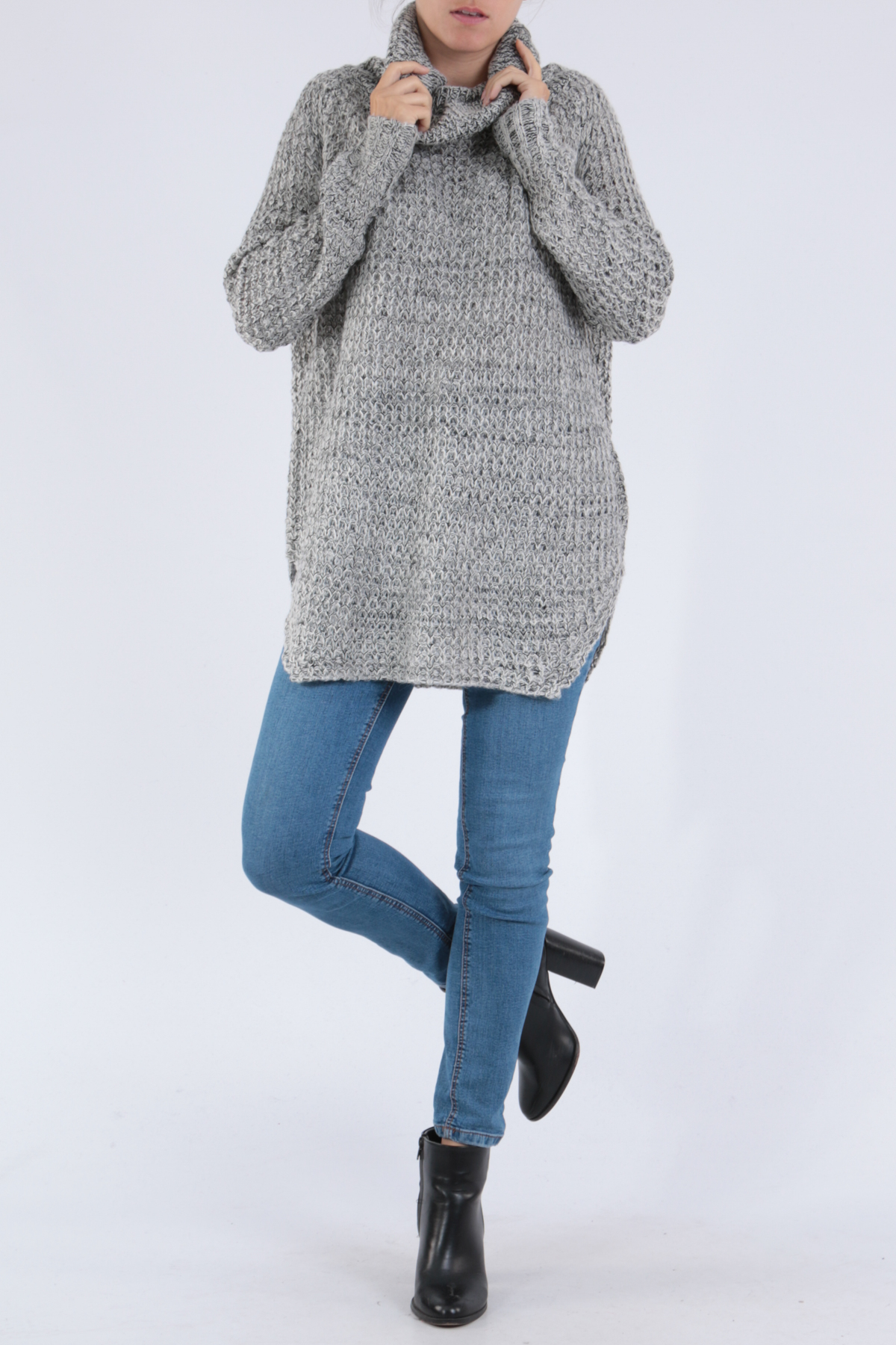 Jumpers Women Grey/white MADSTER by MATCHPOINT SW103 #c eFashion Paris