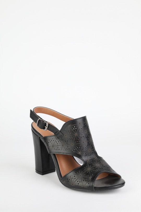 72c98ac64a54f Sandales Chaussures Noir H2P Diffusion - POTI PATI SE025  c eFashion Paris