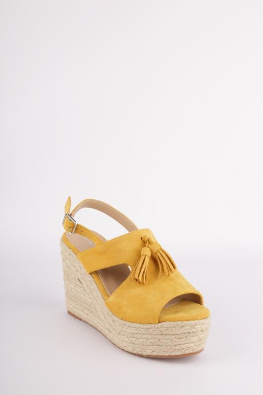 52767e9f3ee6e3 Compensées Chaussures Jaune H2P Diffusion - POTI PATI SE301 #c eFashion  Paris