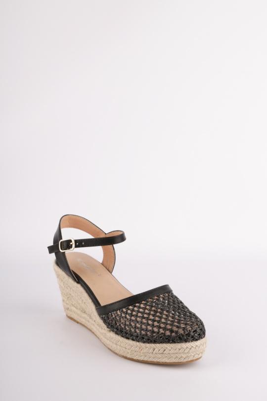 c186dc64f40d7d Compensées Chaussures Noir H2P Diffusion - POTI PATI SE325 #c eFashion Paris