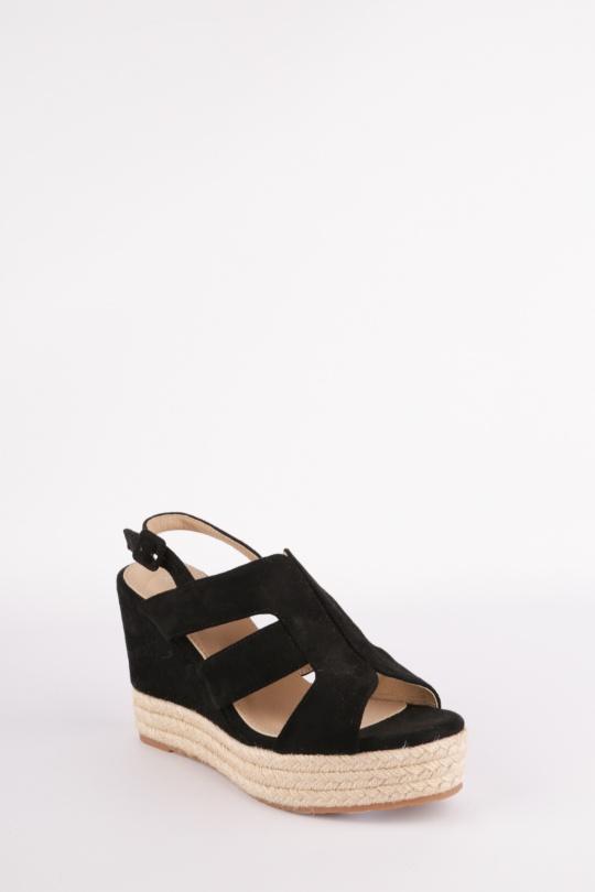 ffcefbb058d9 Compensées Chaussures Noir H2P Diffusion - POTI PATI SE372 #c eFashion Paris