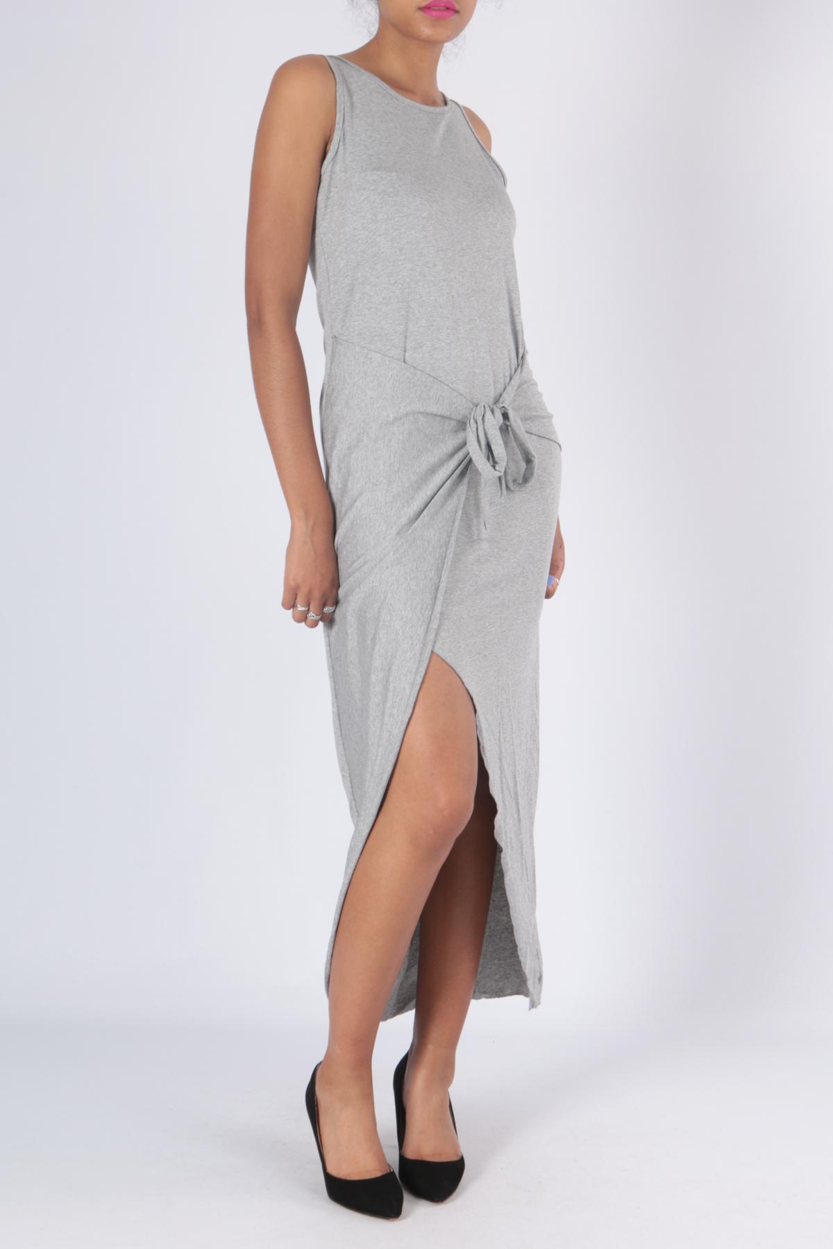 Robes longues Femme Gris ELLE STYLE 1682 #c eFashion Paris